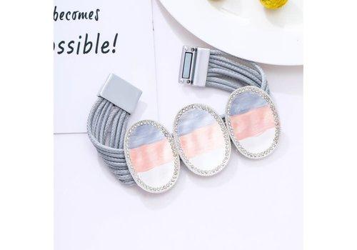 Peach Accessories Peach 103A-25 Grey magnetic Bracelet