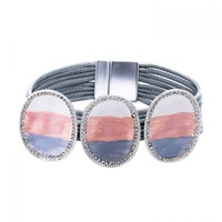 Peach 103A-25 Grey magnetic Bracelet
