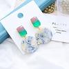 Peach Accessories Peach ER052 Earrings in Green multi