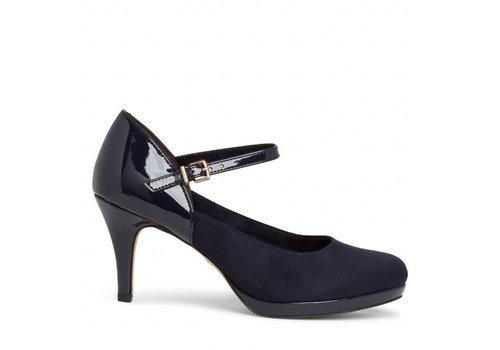Tamaris A/W Tamaris 24402 Navy strap shoe