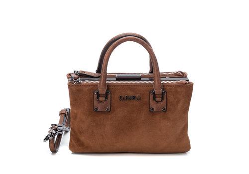 Carmela Carmela 86393 Tan Twin handle Bag