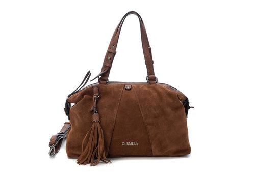 Carmela Carmela 86407 Tan twin handle Bag