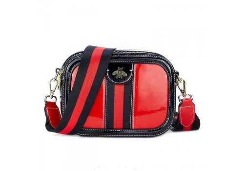 Peach Accessories Peach 3569 Stripy Bee Bag in Red