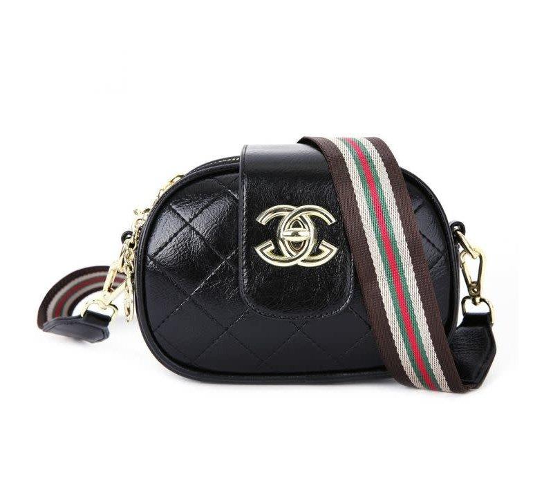 Peach P019 Black 3 Zip Top Bag