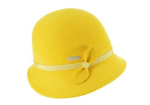 Seeberger Seeberger 018472/42 Yellow Felt Cloche