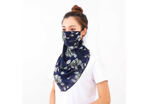 Peach Accessories Peach 0016 Navy large Scarf Mask