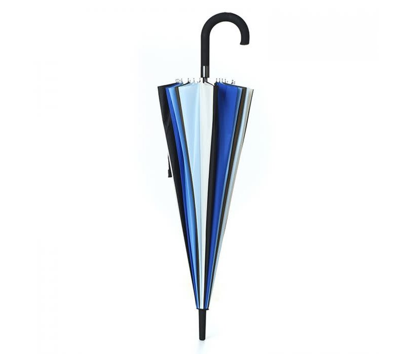 Peach RST903 multi Blue stripe umbrella