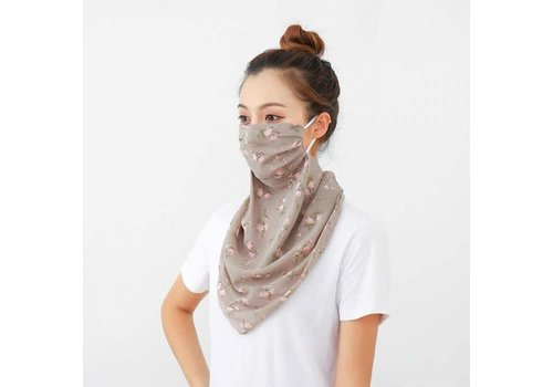 Peach Accessories Peach 0016 Taupe Poppy Large Scarf Mask