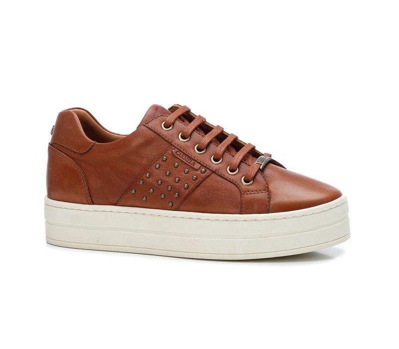 Carmela 67478 Tan Platform Sneaker