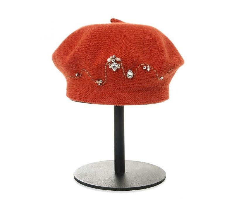 Peach SD53 Orange Decorative Berét