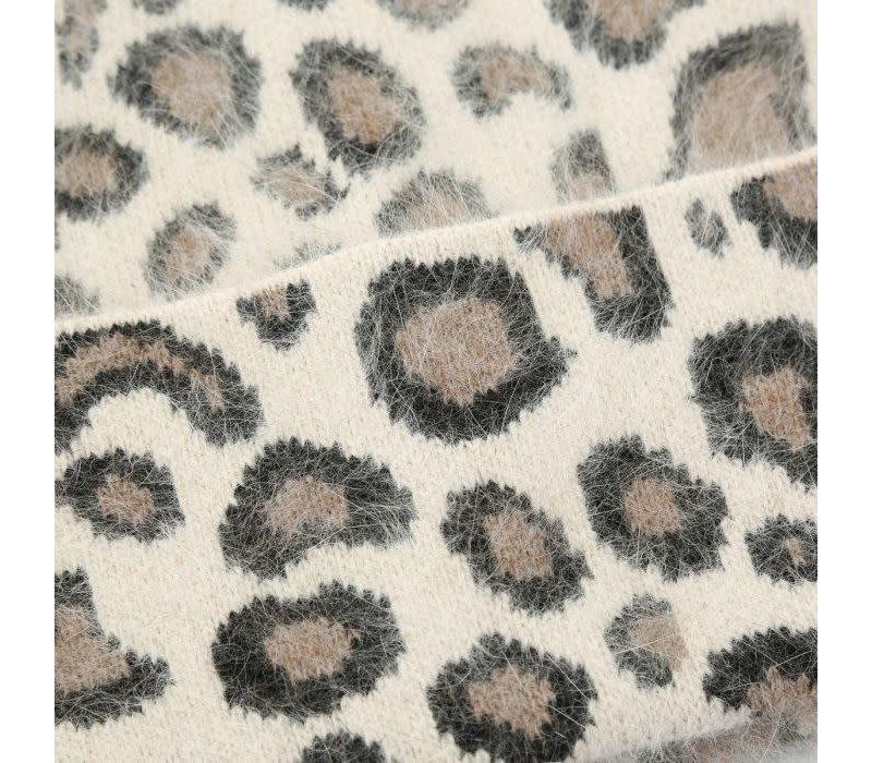 Peach SD51 Leopard Print Beanie
