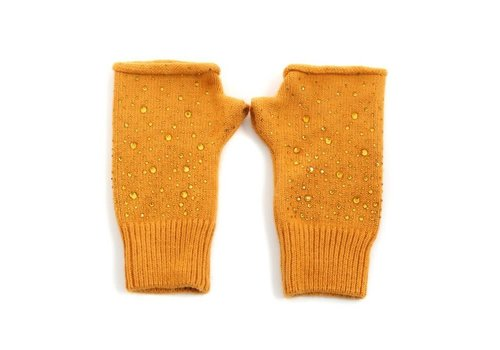 Peach Accessories Peach SD42 Mustard Fingerless Gloves