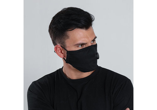 GESSY Gessy Black cotton mask with valve