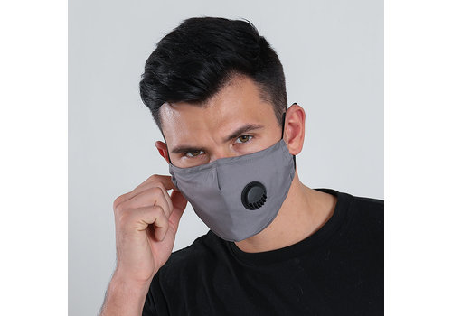 GESSY Gessy Grey cotton mask with valve