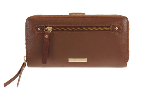 Oriano ANTIBES Tan Leather Purse