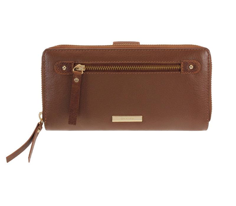 Oriano ANTIBES Tan Leather Purse