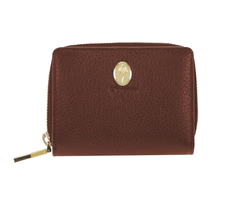 Oriano MESSINA Tan Zip around Purse