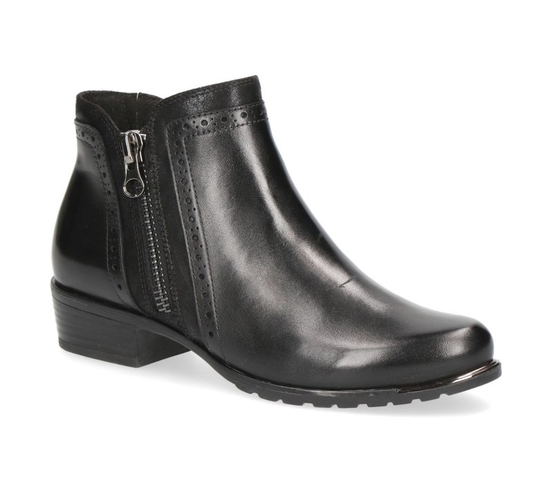 Caprice 25403 Black Leather A/Boots