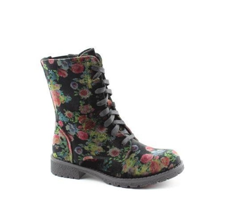 Heavenly Feet CHLOE Blk Floral