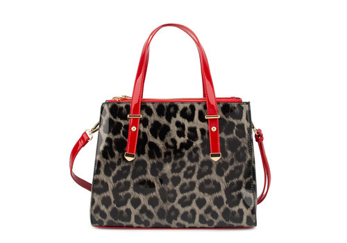 GESSY GESSY L4802LP Black/Red Leo Patent Bag