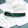 Peach Accessories Peach HA204 Dark Green Crystal Hair Clip
