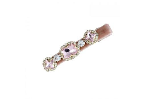 Peach Accessories Peach HA204 Pink Crystal Hair Clip