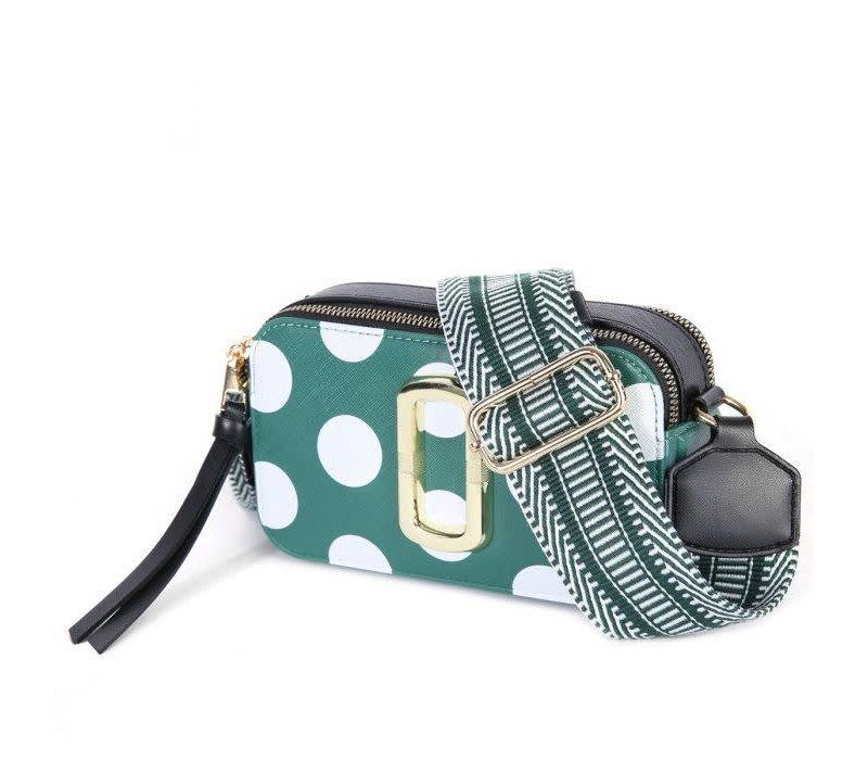 Peach 9021BD Green Polka Dot Bag