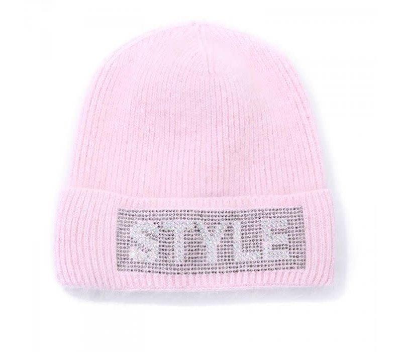 Peach SD47 Pink Angora mix Hat