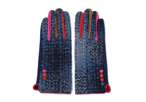 Peach Accessories Peach   HA1937 Navy multi gloves