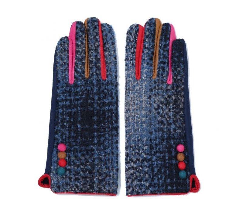 Peach   HA1937 Navy multi gloves