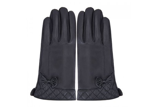Peach Accessories Peach HA1920 Black Leather Gloves