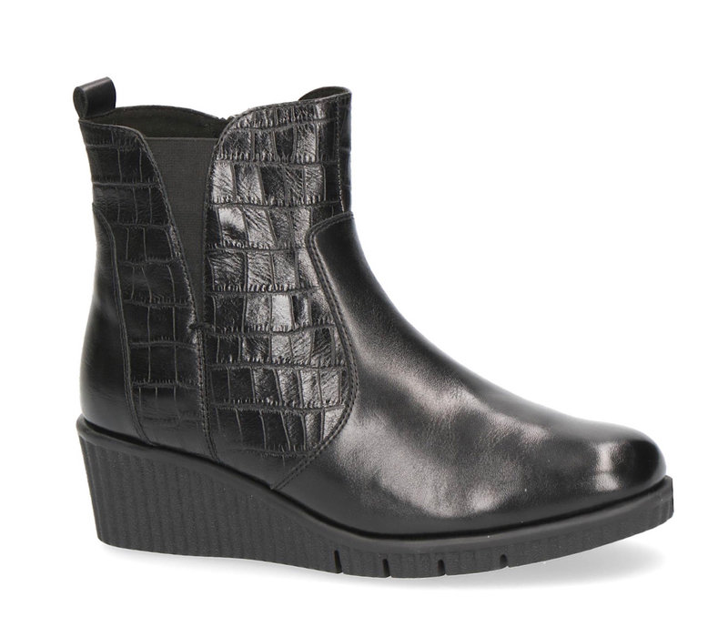 Caprice 25461 Black Wedge A/Boot