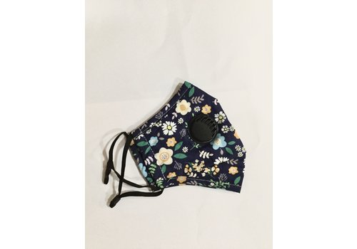 GESSY GESSY Navy floral print Face mask