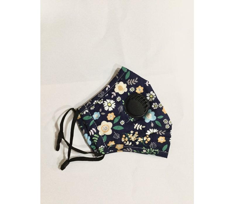 GESSY Navy floral print Face mask