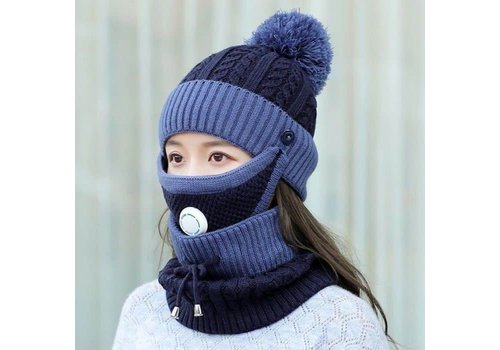 Peach Accessories Peach SD80 Hat Snood Mask Set Navy