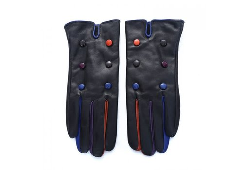 Peach Accessories Peach HI933 Black multi Leather gloves