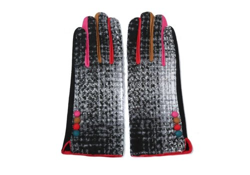 Peach Accessories Peach HA1937 Black multi Gloves