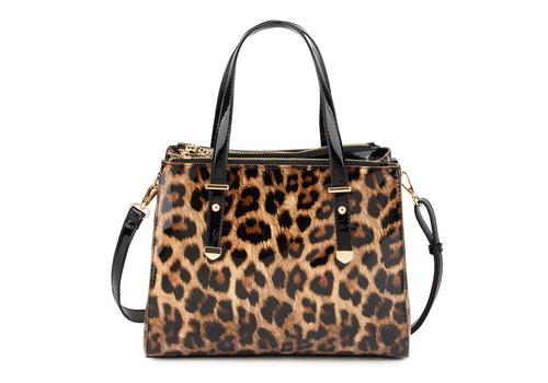 GESSY GESSY L4802LP Brown/Black Leo Patent Bag