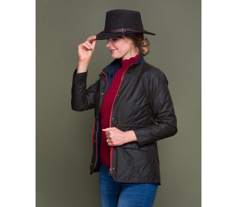 "Jack Murphy ""FIONA"" wax jacket in Olive"