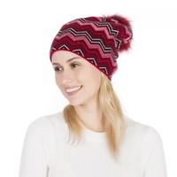 PEACH SD49 Burgundy Zigzag Hat