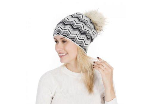 Peach Accessories PEACH SD49 Blk/White Zigzag Hat