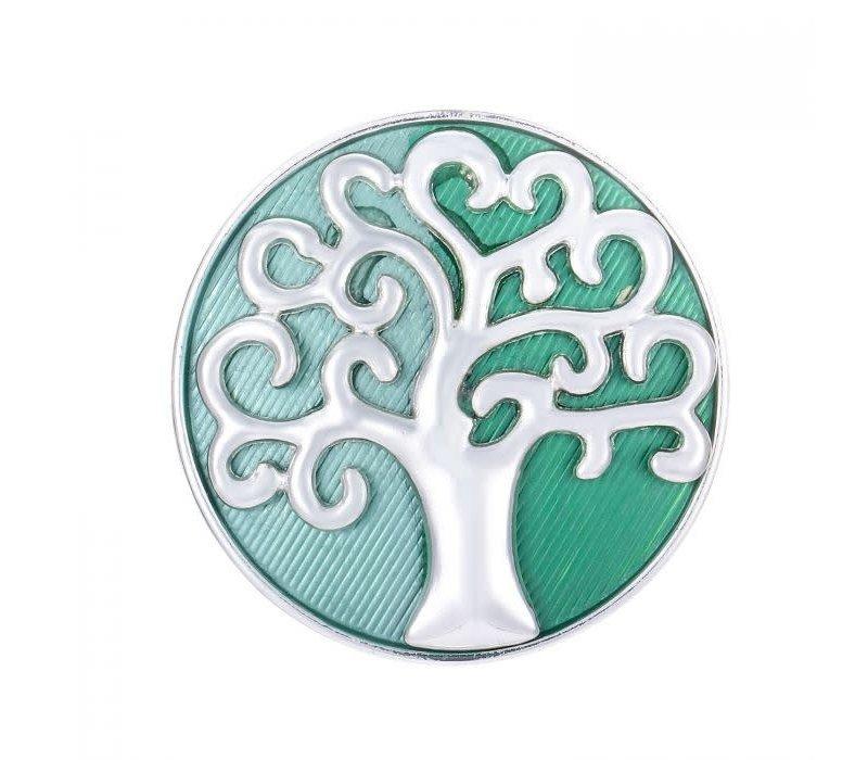 Peach 103A-10 Green Tree of life Brooch