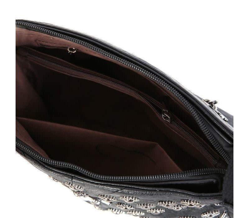 Peach 4711 Bee stud Leather Bag