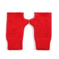 Peach SD42-3 Red Fingerless Gloves
