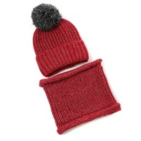 Peach DPSD73 Wine Hat & Snood Set