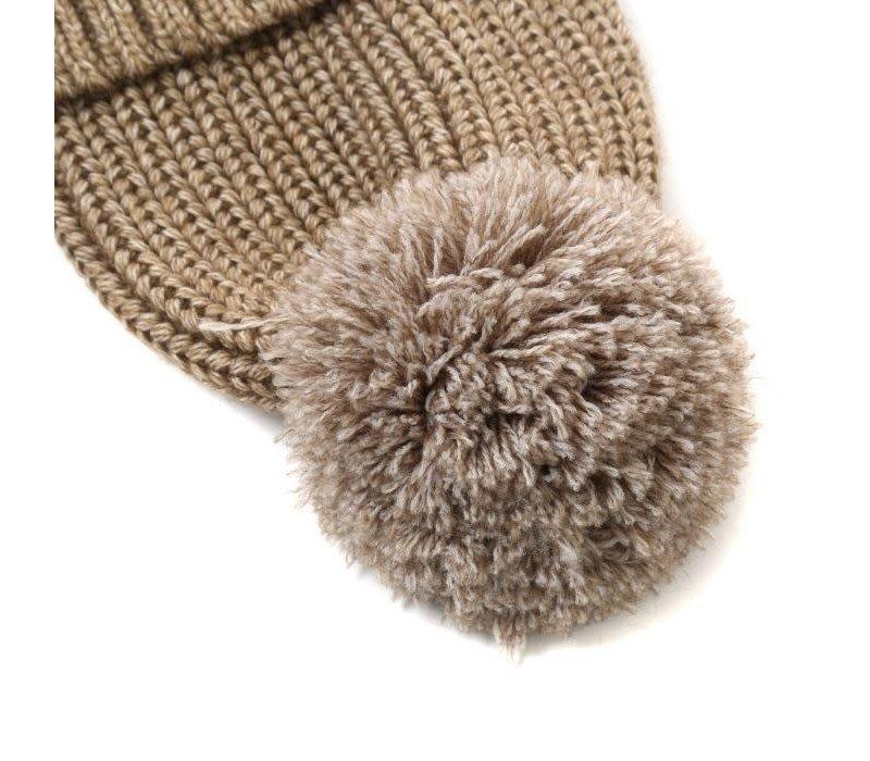 Peach DPSD73 Beige Hat & Snood Set