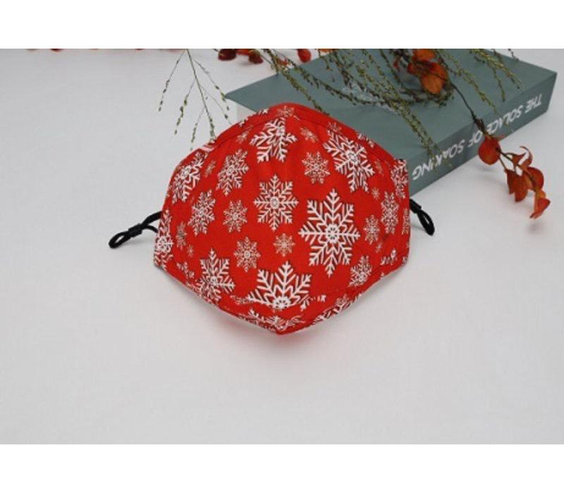 GESSY Orange Snowflake Mask
