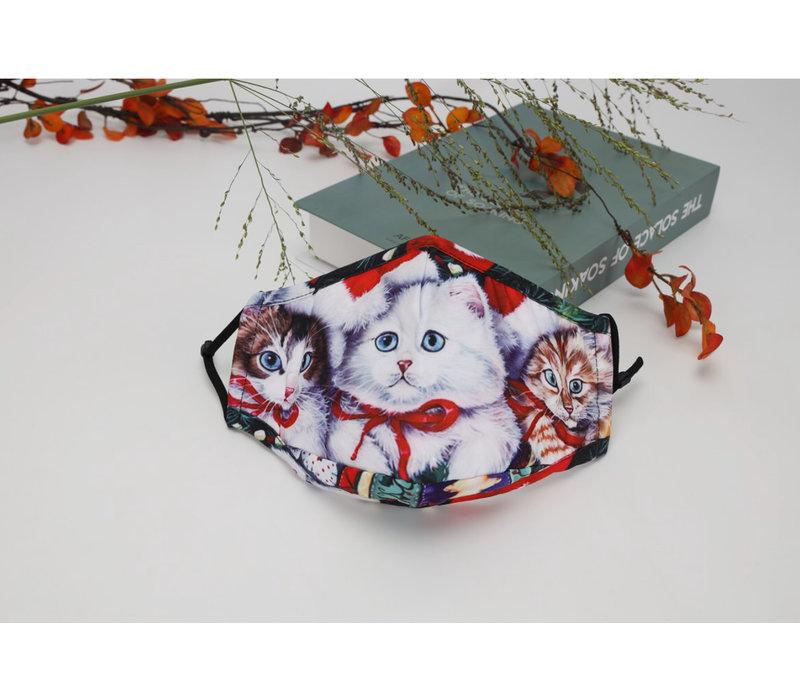 GESSY Christmas Kitten Face Mask
