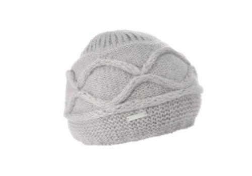 Seeberger Seeberger 010455 Light Grey Angora Hat
