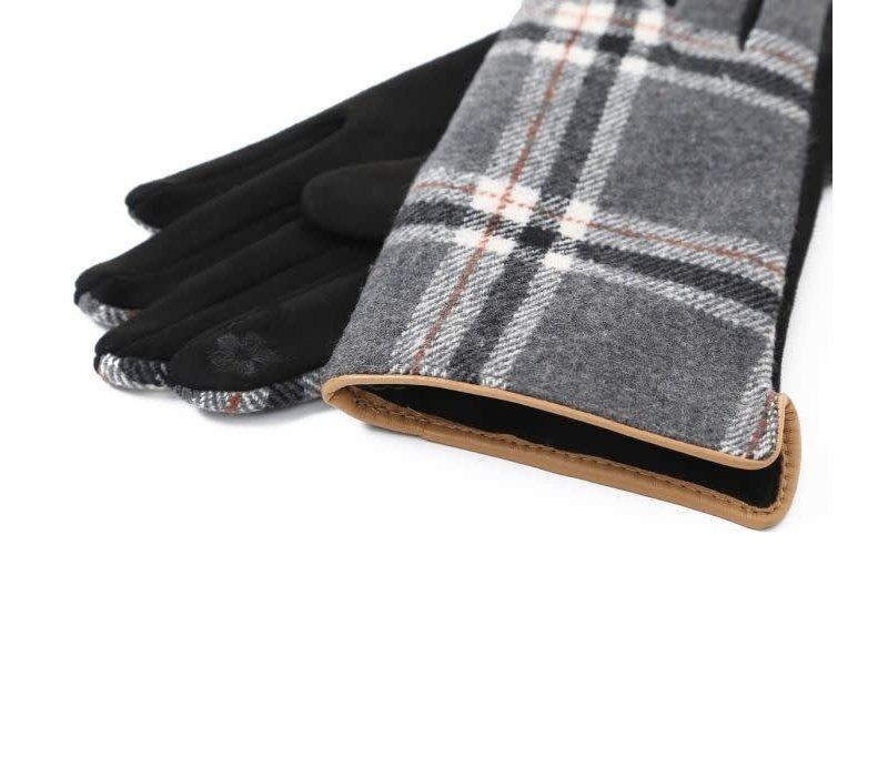 Peach HA1948 Black Tartan Gloves